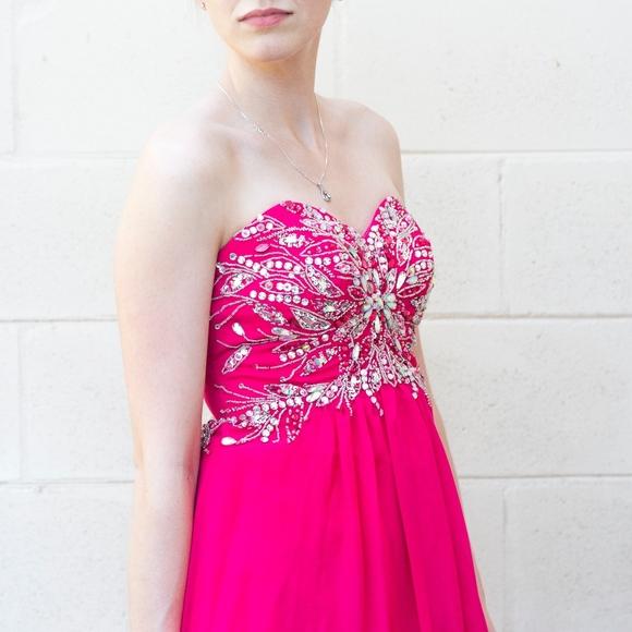 Dresses Pretty Pink Jeweled Top Prom Dress Poshmark